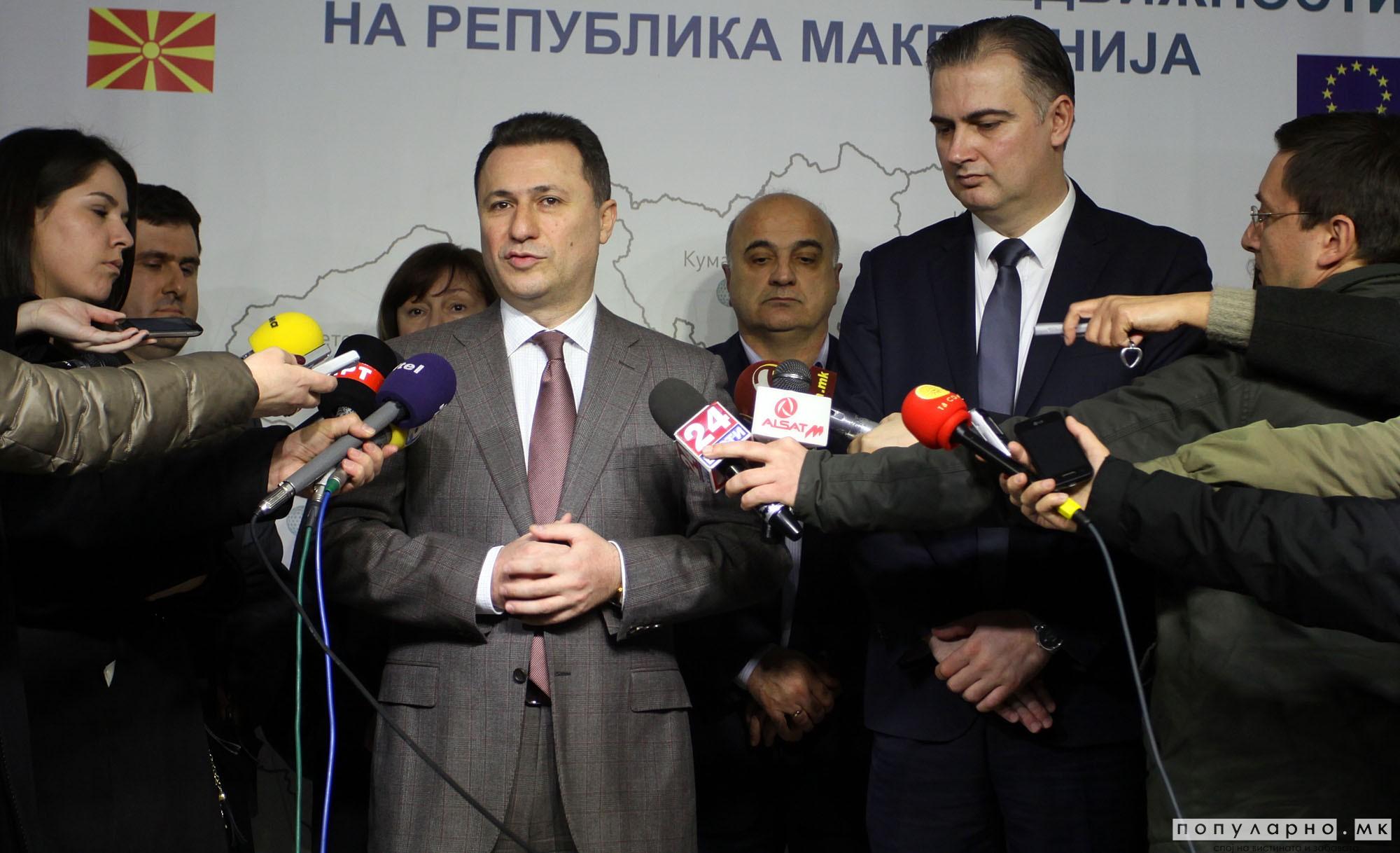 Груевски: Кој ќе биде во Владата одлучуваат граѓаните, а не Заев
