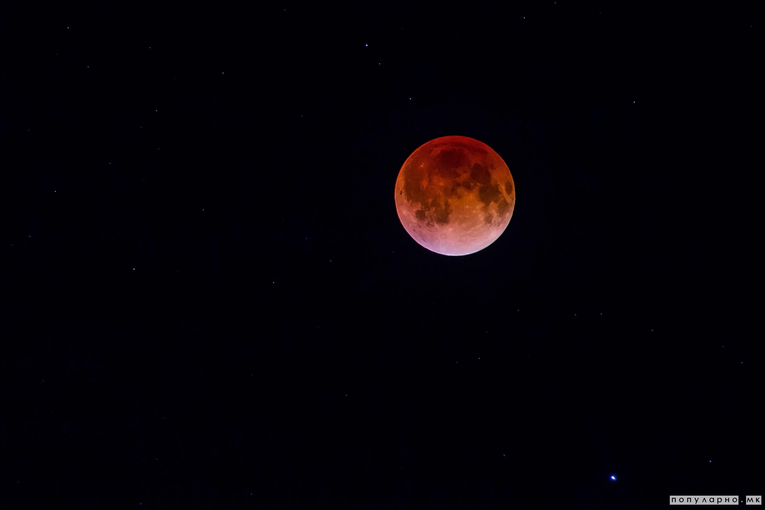 """Вечерва на небото ќе се појави """"крвава Месечина"""""""