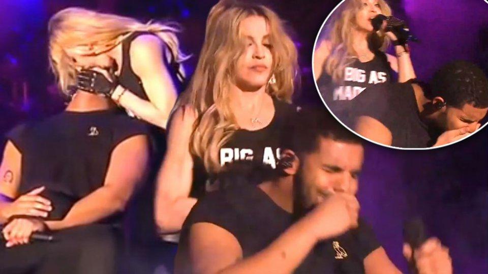 ВИДЕО: Дрејк со гадење се избриша откако Мадона го бакна