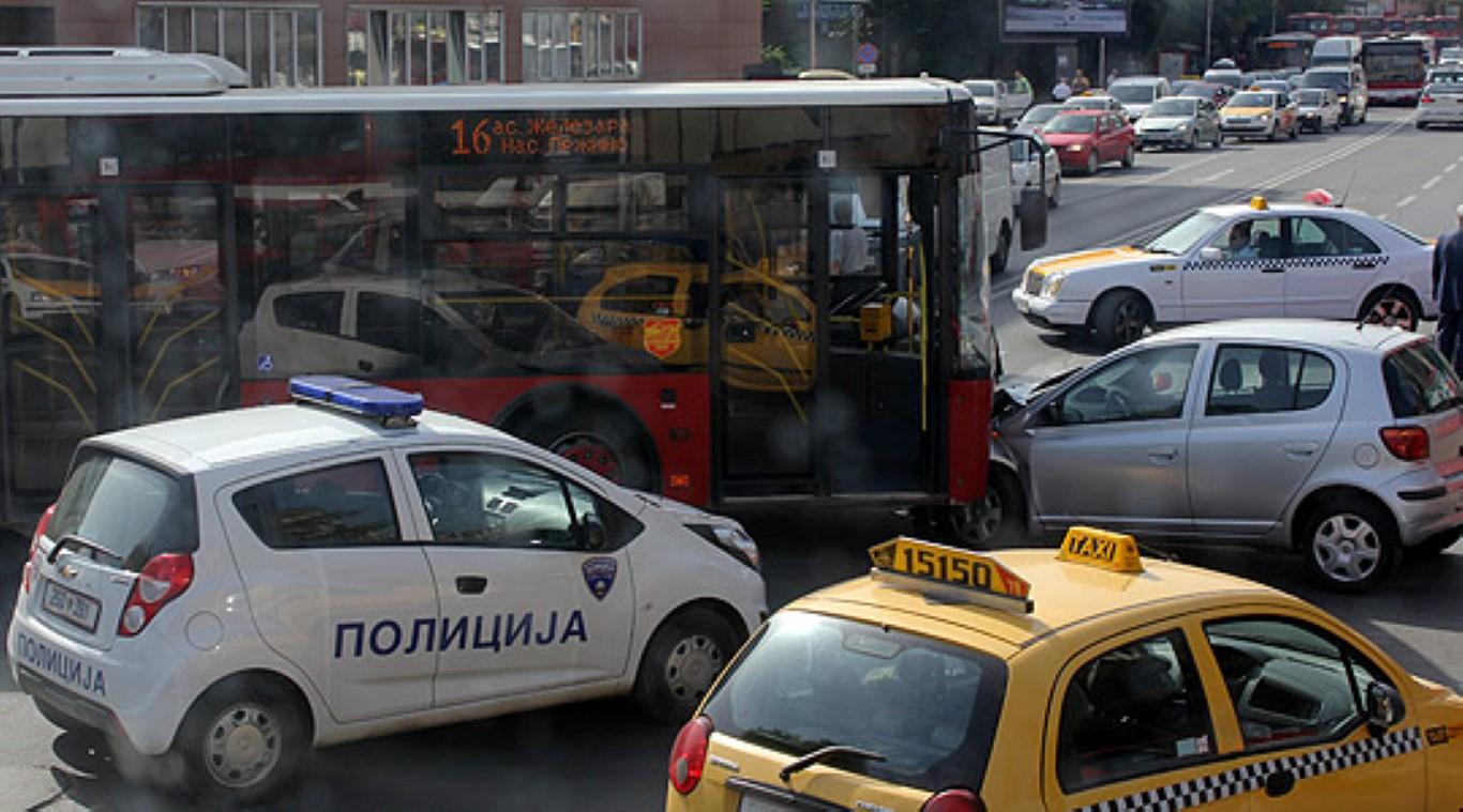 ФОТО: Сообраќајка во центарот на Скопје