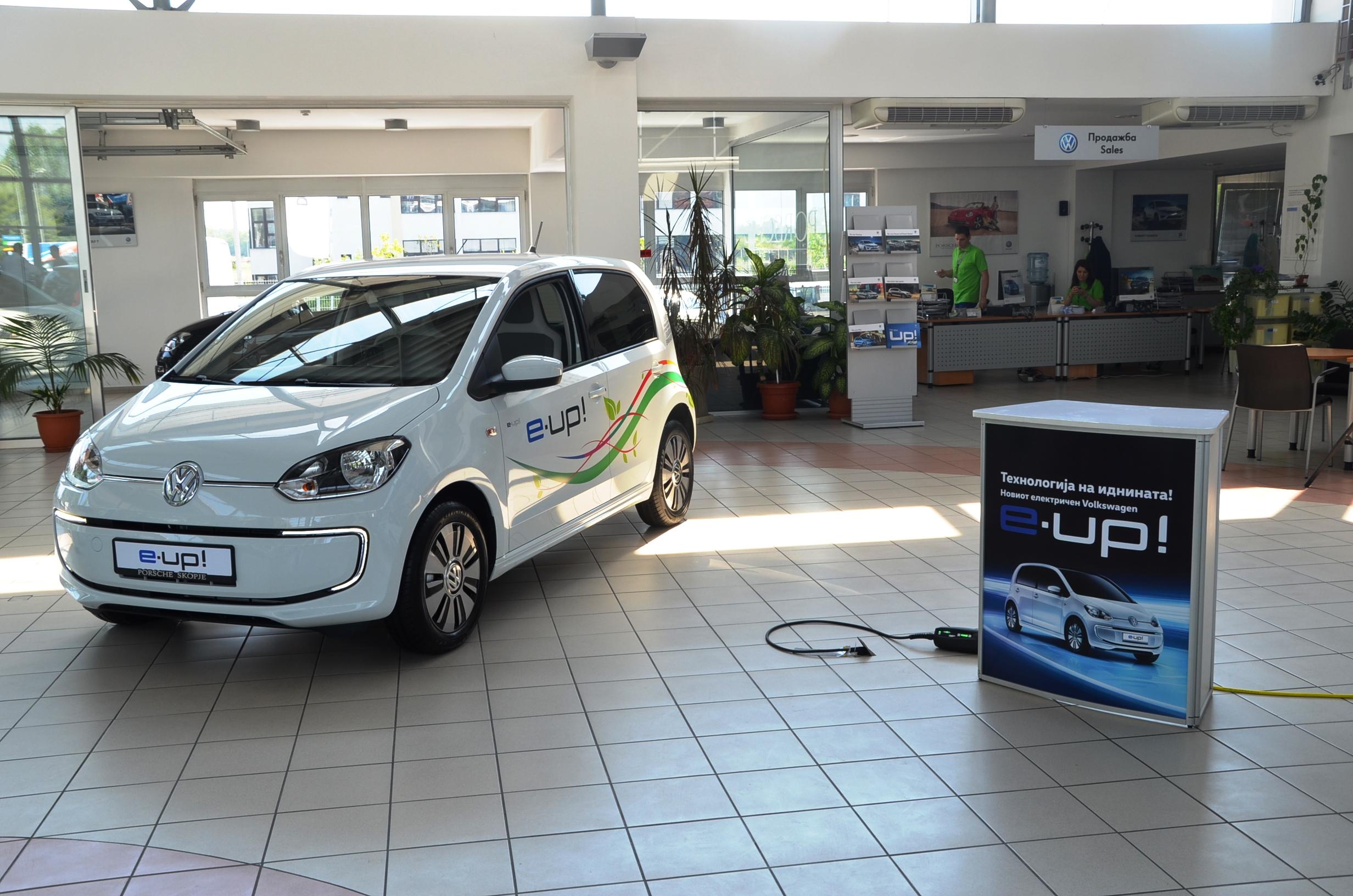 """""""Порше Македонија"""" го претстави Volkswagen e-up! - автомобил кој минува 100 км за 57 денари"""