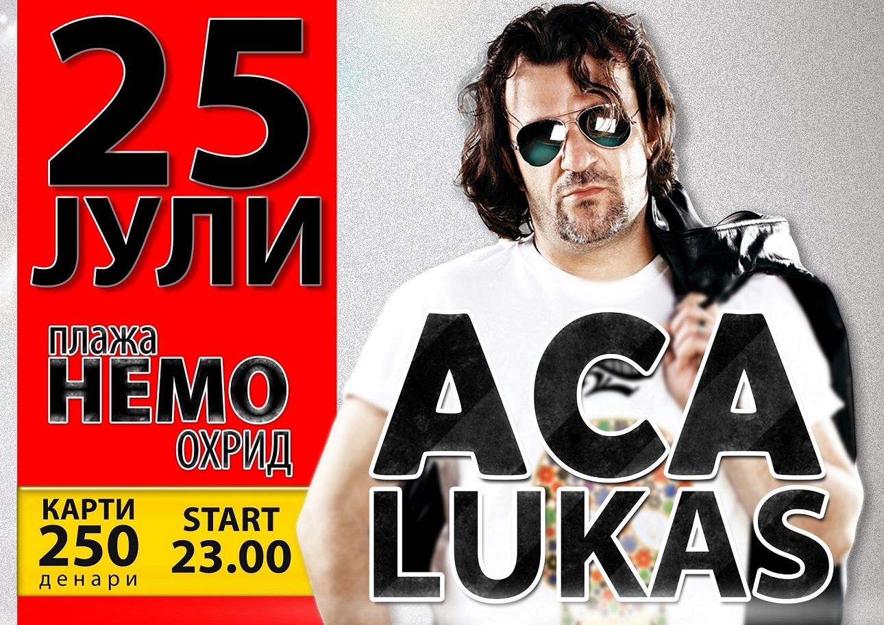 Журка под отворено небо: Аца Лукас на 25-ти јули доаѓа во Охрид!