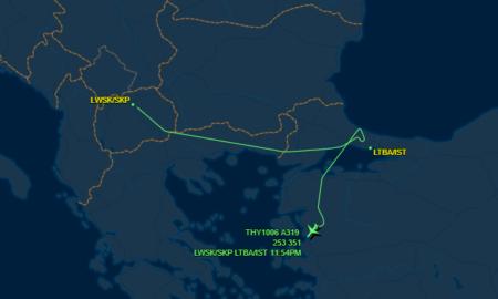 ЗА ПЕТ МИНУТИ ЈА ИЗБЕГНАЛЕ ЕКСПЛОЗИЈАТА: Авионот од Скопје кој летал за Истанбул е пренасочен