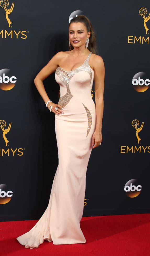 Actress Sofia Vergara arrives at the 68th Primetime Emmy Awards in Los Angeles, California