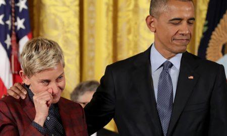 ЈА РАСПЛАКА ЕЛЕН ДИЏЕНЕРЕС: Обама ѝ ја додели највисоката цивилна награда на познатата водителка (ВИДЕО)