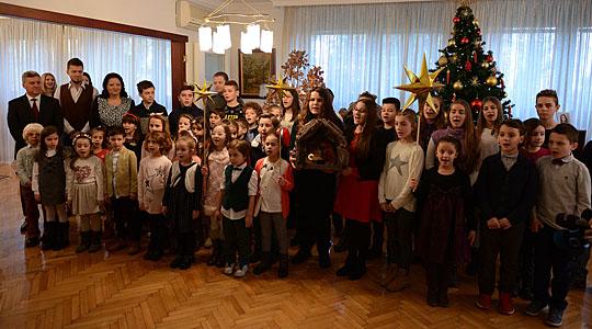 Бадникари кај претседателот Иванови